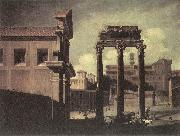 CODAZZI, Viviano Rome, the Campo Vaccino Looking toward the Capitoline d oil painting artist